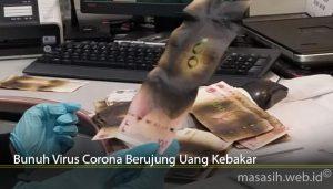 Bunuh Virus Corona Berujung Uang Kebakar